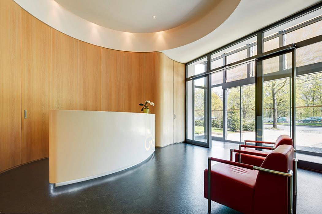 GRS Empfang Braunschweig © Büro Thomas Müller, Architektur, Innenarchitektur, Messebau